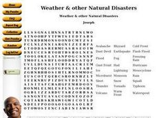 Weather & other Natural Disasters Worksheet
