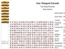 Our Winged Friends Worksheet
