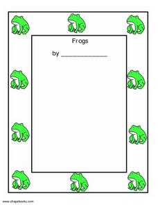 Frogs Report Worksheet