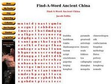 Find-A-Word Ancient China Worksheet