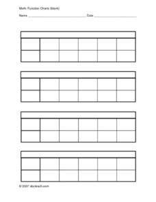 Function Charts Worksheet