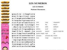 Les Numeros Worksheet