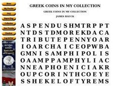 Greek Coins in My Collection Worksheet