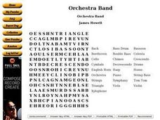Orchestra Band Worksheet