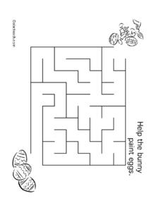Help the Bunny Locate Eggs Worksheet