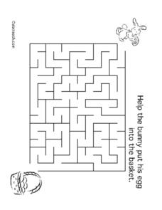 Easter Bunny Maze Lesson Plan