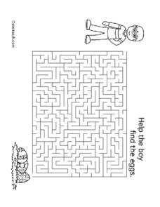 Eggs Maze Lesson Plan