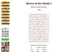 Rivers of the World 1 Worksheet