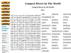 Longest Rivers In The World Worksheet