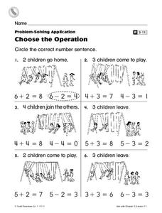 Choose the Operation Worksheet