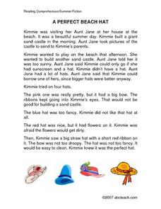 A PERFECT BEACH HAT Worksheet