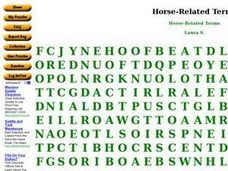 Horse-Related Terms Worksheet