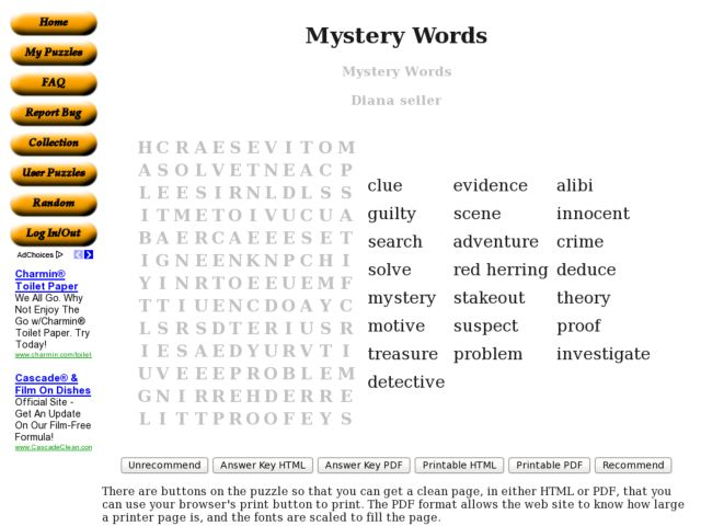 Mystery Words 7th - 8th Grade Worksheet | Lesson Planet