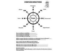 Barnaby Bear Compass Directions Worksheet
