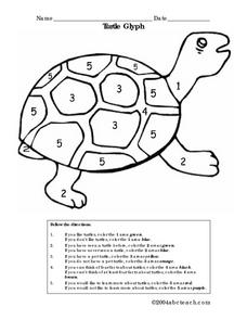 Turtle Glyph Worksheet