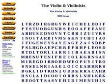 The Violin & Violinists Worksheet