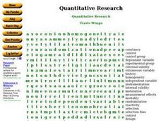 Quantitative Research Worksheet
