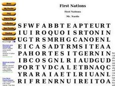 First Nations Worksheet