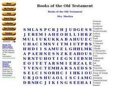 Books of the Old Testament Worksheet