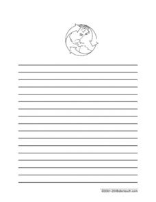 Earth day Writing Paper Printables Template for 1st 5th Grade