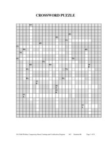 Crossword Puzzle Lesson Plan