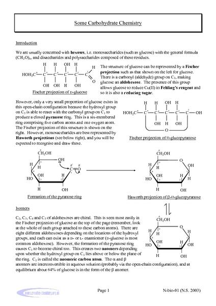 chemistry of carbohydrates worksheet bluegreenish. Black Bedroom Furniture Sets. Home Design Ideas