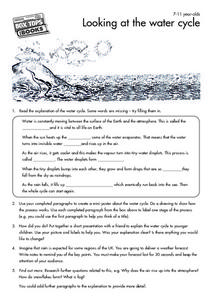 Looking at the Water Cycle Worksheet