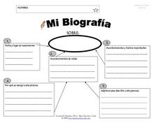 My Biografia Worksheet