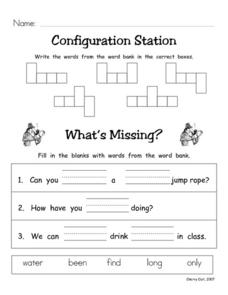 Configuration Station #10 Worksheet