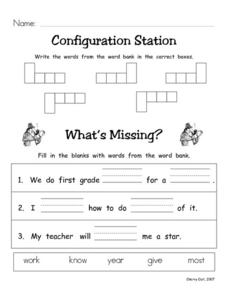 Configuration Station #21 Worksheet
