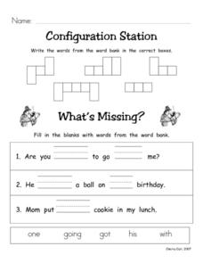Configuration Station #14 Worksheet