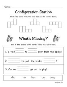 Configuration Station #19 Worksheet