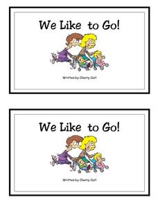We Like To Go!-- Full Color Copy Printables & Template