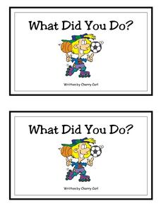 What Did You Do?-- Full Color Copy Printables & Template