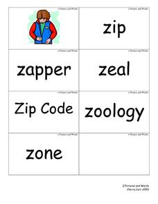 Z pictures and words Lesson Plan