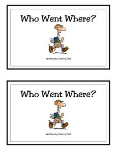 Who Went Where?-- Full Color Copy Printables & Template