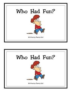Who Had Fun?-- Full Color Copy Printables & Template
