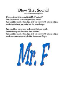 Blow That Sound! Worksheet