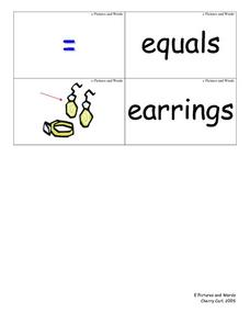 Ee  Pictures and Words Worksheet