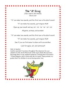 "The ""A"" Song Worksheet"
