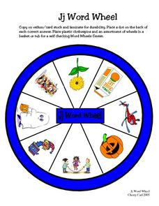 Jj Word Wheel Worksheet