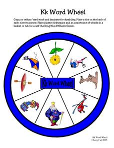 Kk Word Wheel Worksheet