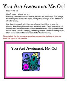 You Are Awesome, Mr. Oo! Lesson Plan