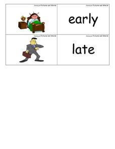 Antonyms Pictures And Words Worksheet