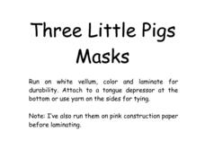 Three Little Pigs Masks Lesson Plan