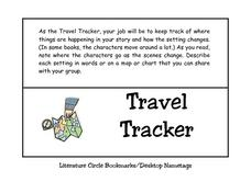 Travel Tracker Worksheet