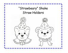 Strawberry Shake Straw Holders Worksheet