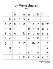 br Word Search Worksheet