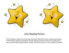 Star Reading Pointer Lesson Plan