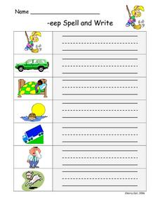 -eep Spell and Write Worksheet